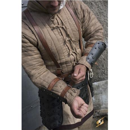 Brazaletes de Acero Medievales Oscuros