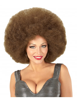 Peluca Super Afro Castaña Clara