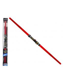Espada Láser Roja Doble con Luz y Sonido