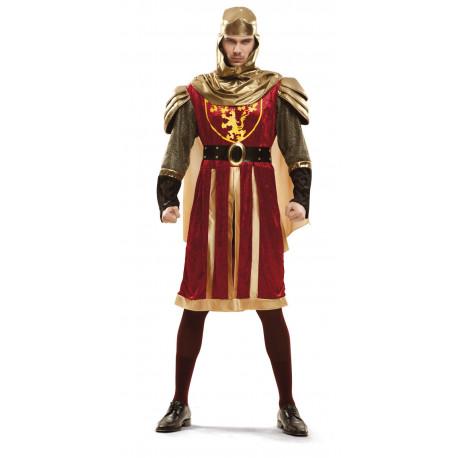 Disfraz de Cruzado Medieval Rojo para Hombre