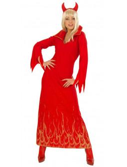 Disfraz Largo de Diablo para Mujer