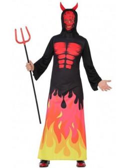 Disfraz de Demonio con llamas
