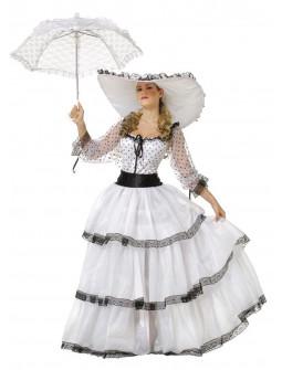 Disfraz de Escarlata O'Hara Blanco