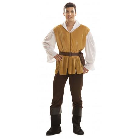 Disfraz de Mesonero Marrón para Hombre