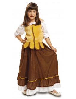 Disfraz de Mesonera Marrón para Niña