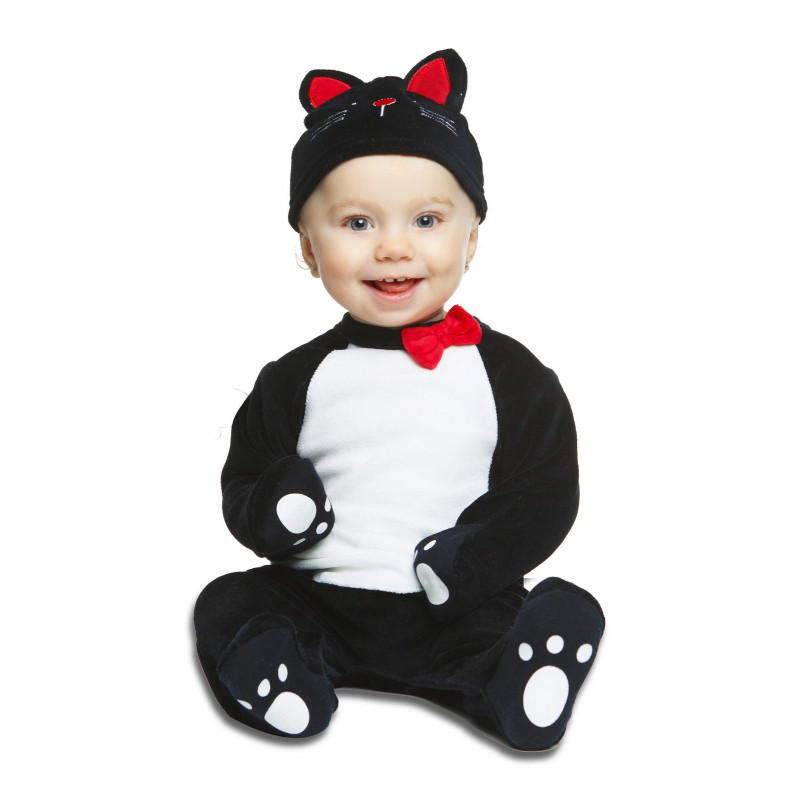 a995a791f Disfraz de Gatito Negro Unisex para Bebé