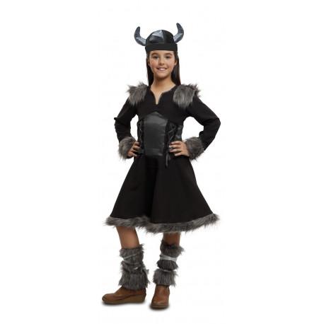 Disfraz de Vikinga Negro para Niña