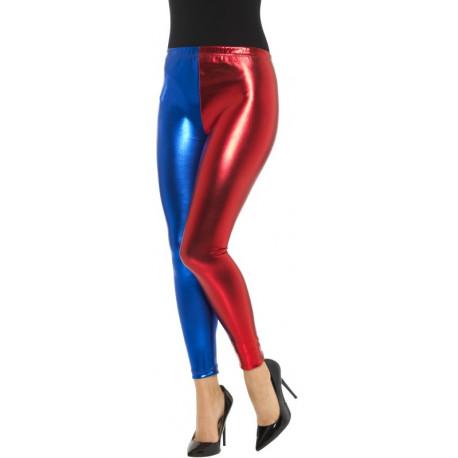 Leggings de Harley Quinn en Rojo y Azul
