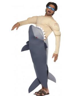 Disfraz de Tiburón Atragantado por Hombre