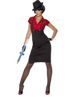 Disfraz de Gangster Rojo para Mujer
