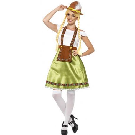 Disfraz de Tirolesa Oktoberfest Verde para Mujer