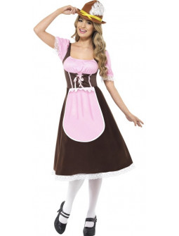 Disfraz de Tirolesa Rosa Largo para Mujer