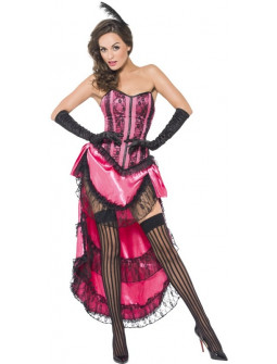 Disfraz de Can Can en Rosa para Mujer