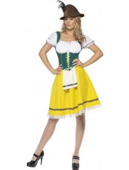 Disfraz de Tirolesa Oktoberfest Amarilla para Mujer