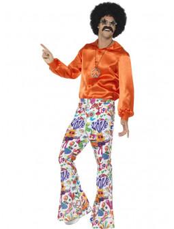 Pantalones de Campana Sesenteros Flower Power