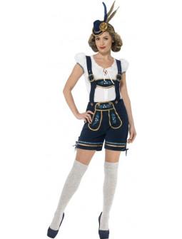 Disfraz de Bávara con Pantalón Premium para Mujer