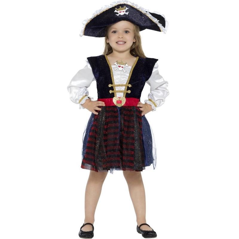 Disfraz de pirata calavera para ni a comprar disfraz online - Maquillaje pirata nina ...