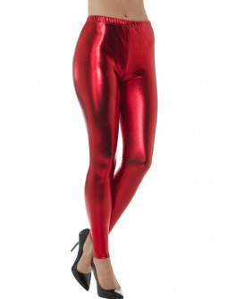 Leggings Rojos Metalizados