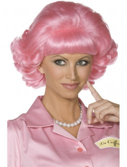 Peluca Rosa de Frenchy Grease