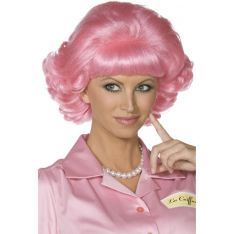 Peluca Rosa de Frenchy Grease