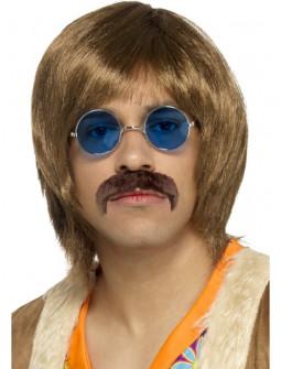 Peluca de John Lennon con Bigote y Gafas
