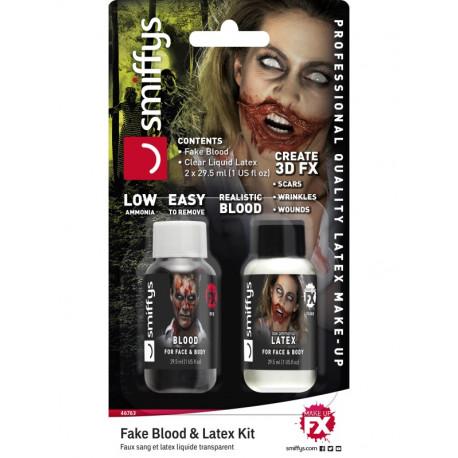 Pack de Látex Líquido y Sangre Artificial