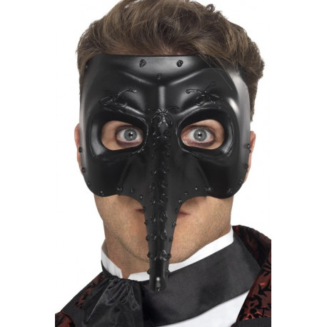 Máscara Veneciana Negra Decorada
