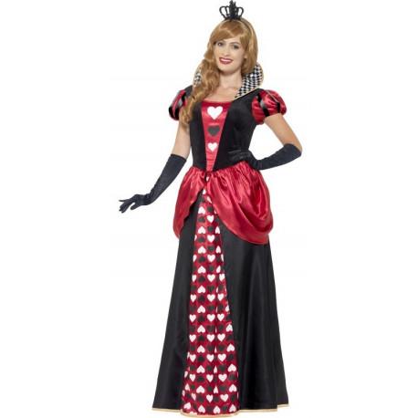Disfraz de Reina de Corazones Largo para Mujer