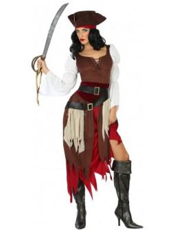 Disfraz de Pirata Corsaria para Mujer