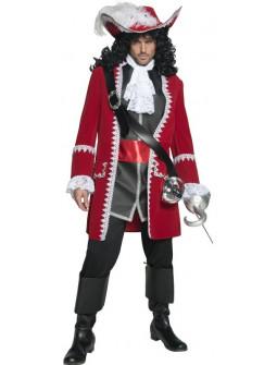 Disfraz de Capitán Pirata Rojo para Hombre