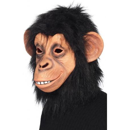 Máscara de Chimpancé con Pelo