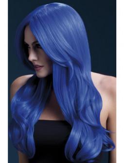 Peluca Azul Ondulada Efecto Natural