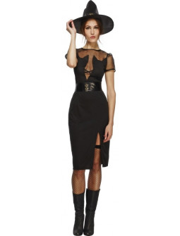 disfraz de bruja negra con gatos para mujer