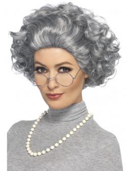 Kit de Abuela con Peluca, Gafas y Collar