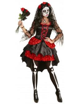 Disfraz de Catrina con Tocado