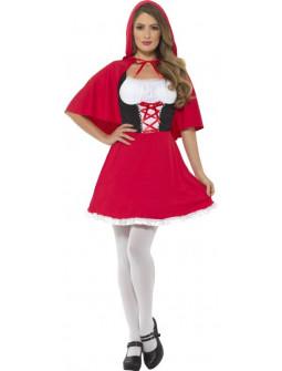 Disfraz de Caperucita Roja Corto para Mujer