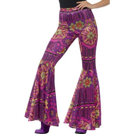 Pantalón de Campana Hippie Psicodélico