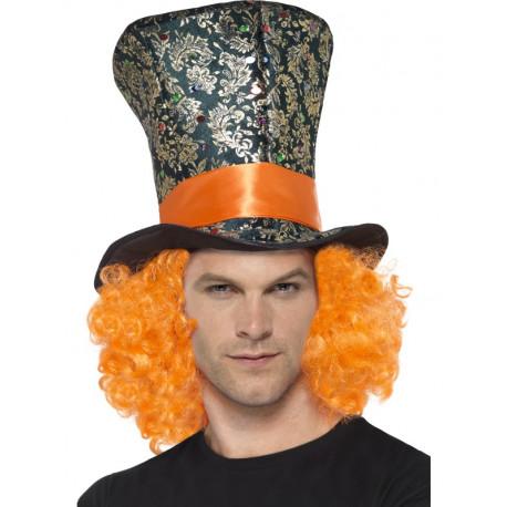 Sombrero de Sombrero Loco con Peluca