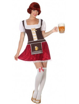 Disfraz de Tirolesa Corto Oktoberfest para Mujer