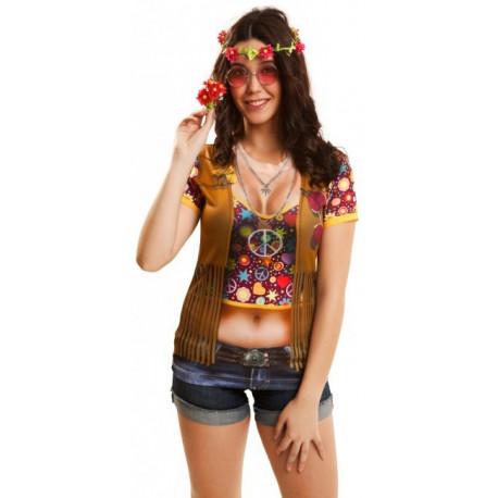Camiseta Hippie con Chaleco para Mujer