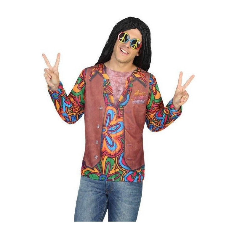 Camiseta de hippie con chaleco hombre comprar online for Camisetas hippies caseras