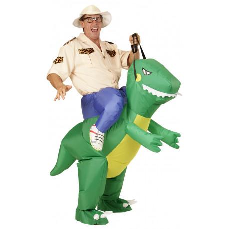 Disfraz de Hombre montado en Dinosaurio
