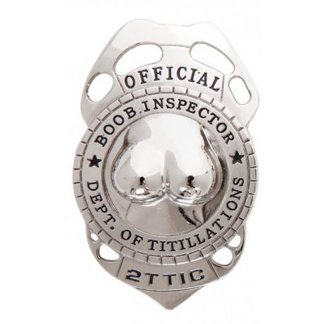 Placa de Policia Metalica Sexy
