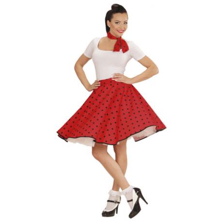 Falda de lunares con Pañuelo