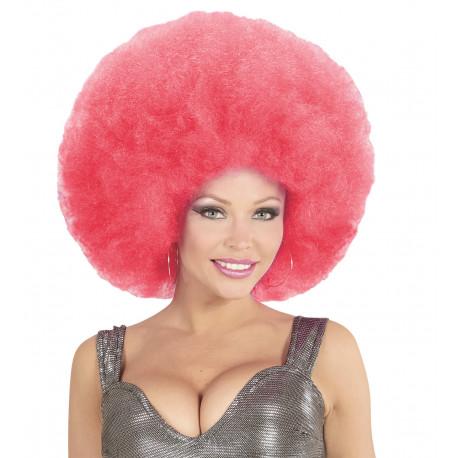 Peluca Super Afro Rosa