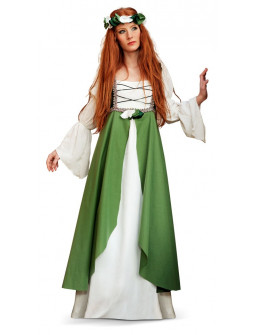 Disfraz de Dama Medieval Verde