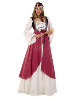 Disfraz de Dama Medieval en Rosa