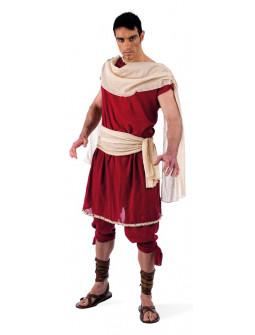 Disfraz de Griego con túnica granate