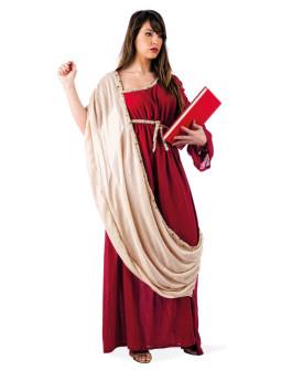 Disfraz de Griega con tunica granate