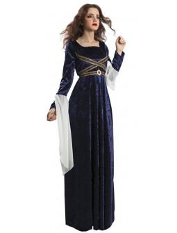 Vestido de Princesa Medieval en Azul